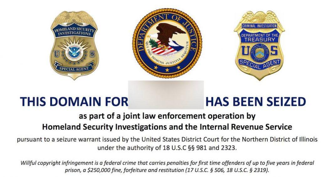 Website Seized by US Law Enforcement